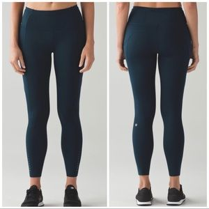 Lululemon Fast And Free 7/8 Tight Nocturnal Teal 8